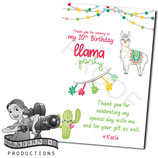 Llama Thank You Cards