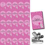 Milestone Cards: Elephant, Pink