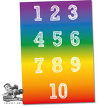 Number Poster; Rainbow