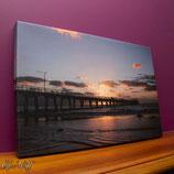 Largs Bay Beach, Sunset 4; Canvas