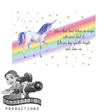 A3 Poster: Rainbow Unicorn Watercolour