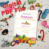 Tutti Frutti Thank You Cards - DIGITAL PDF FILE