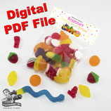 Tutti Frutti Bag Toppers - Digital PDF File