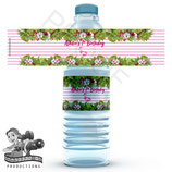 Flamingo, Watercolour Water Bottle Label; Digital PDF File
