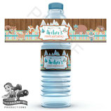 Woodland Animals; Water Bottle Label