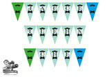 Bunting Banner: Little Man; Green, Blue & White, Digital PDF File