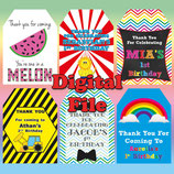 Big Top Gift Tags  - DIGITAL PDF FILE