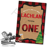 Lumberjack Thank You Cards
