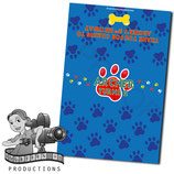 Blue, Red, Yellow Paw Print; Choc Wrapper