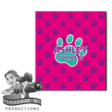 Pink, Purple, Aqua Paw Print; M&M Tube Wrapper