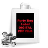 Party Bag Label  - DIGITAL PDF FILE