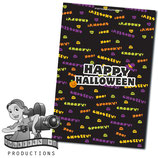 Halloween Text; Choc Wrapper