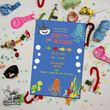 Under The Sea Invites