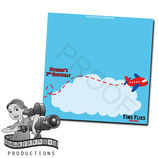 Food Tent Cards  - Airplane; Red & Blue; DIGITAL PDF FILE