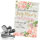 Floral & Timber Thank You Cards