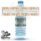 Floral & Timber: Water Bottle Label