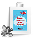 Airplane; Red & Blue; Party Bag Labels