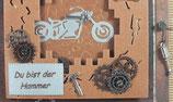 "Holzgrußkarte ""Lass krachen Alter"""