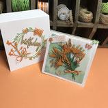 """Geburtstagskarte """"Blumen sind das Lachen der Erde"""""""