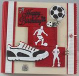 """Geburtstag """"Happy Birthday Fußball rot-weiss"""""""