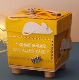 """Explosionsbox """"ohne Mäuse ist alles Käse"""""""