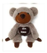 Personalisiertes Kuscheltier für Spieluhr Teddy Bär, Gr. 45cm, mokka
