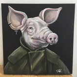 "Nomad Clan - ""Tory Slayer"", original painting, related to ""Tory Zombie"" mural, Manchester"
