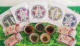 台湾茶5種とパイナップルケーキ