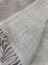 Plaid Leinen  Merinowolle -  Sandy Grey