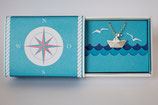 Halskette kleines Schiffchen mit Silberwimpel