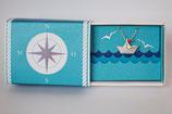 Halskette kleines Schiffchen mit rotem Wimpel