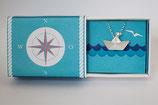 Halskette großes Schiffchen mit Silberwimpel