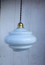 Suspension en opaline blanche 70's