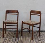 Paire de chaises bois et corde