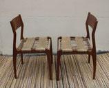 Paire de chaises bois et corde Conzorsio Sedi Friuli