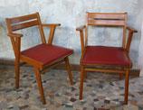 Paire de chaises de bureau 60's