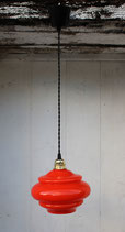 Suspension en opaline orange 70's