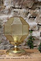 Lampe globe à facettes