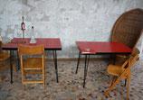Table de bistro formica vintage pieds eiffel