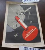 Affiche soviétique vintage