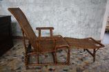Chaise longue vintage en rotin