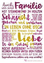 """Poster """"Auch wir sind Familie"""""""