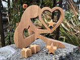 Mama mit Stern  aus Holz - Handarbeit