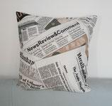 """Kissenbezug """"Zeitung"""" 40x40 cm"""