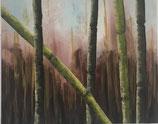 Bambus, Acryl auf Leinwand