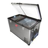 SnoMaster SMDZ-EX67D Stainless Steel Dual Fridge Freezer Double Door