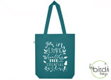 "Shopper ""healthy food, essential oils"" seagreen, *limited edition*"