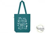 "Shopper ""healthy food, essential oils"" seagreen, *limited edition*"
