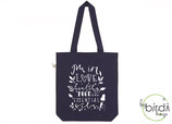 "Shopper ""healthy food, essential oils"" navy, *limited edition*"