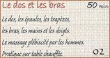"""02  """" A Fleurs de Peau """" Dos et Bras"""